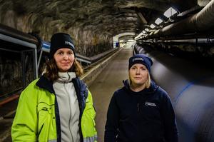 Malin Tuvesson och  Petra Johansson.