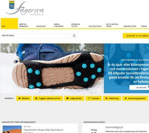 Skärmklipp från Fagersta kommuns hemsida. Kommunen får bra betyg för sin webbinformation till allmänheten.
