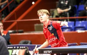 Per Sandström vann en femsetsmatch mot Daniel Schaffer.