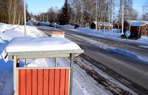 Den här busshållplatsen ligger närmast Lollo Biörs´ hem, en hållplats som