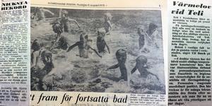 Värme och bad tog stor plats i NP:s rapportering 1975.