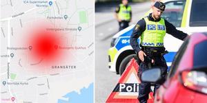 Den misstänkte drograttfylleristen stoppades på Hamnvägen mellan Norrtälje hamn och Vätövägen.