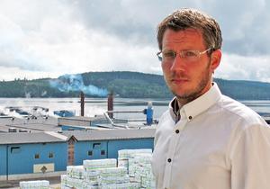 Johan Olofsson är sågverkschef. Foto: Pressbild