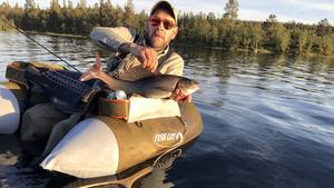 Henrik Antropov har under veckan dragit några fina harrar uppe i Tännäs fiskevårdsområde.