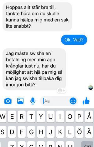 Örnsköldsviksbon blev alldeles kallsvettig när han insåg att någon hade hackat sig in på hans Facebooksida – och lurat vänner på pengar.