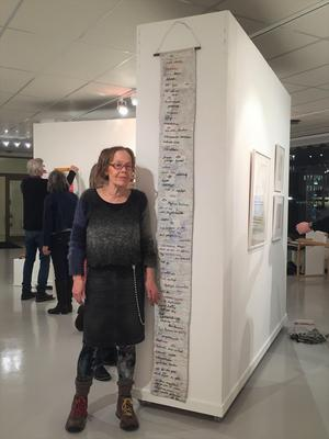 Linda Hedendahl med sitt verk