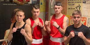 Falkens SM-boxare, från vänster: Robin Wesström, David Olsson, Victor Olsson, Emil Harrysson.