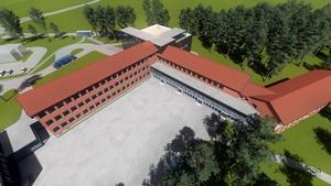 Så här kan Hagaskolan se ut i framtiden.