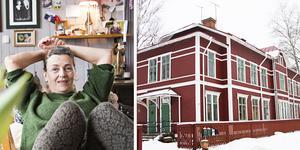 Det stora röda trähuset och Maria Engblom har blivit oskiljaktiga. Efter att hon i många år haft sin fotoateljé i huset gick hon ihop med vänner och gjorde det till sitt hem – på riktigt.