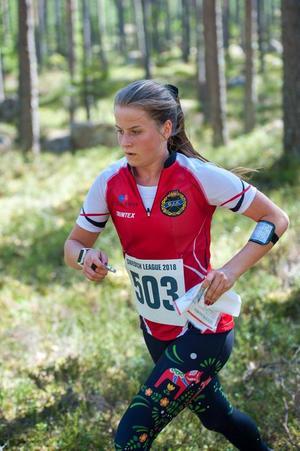 Ella Olsson tävlar till vardags för Grycksbo IK OK. Nu ska hon delta i sitt första landslagsuppdrag. Foto: Per G