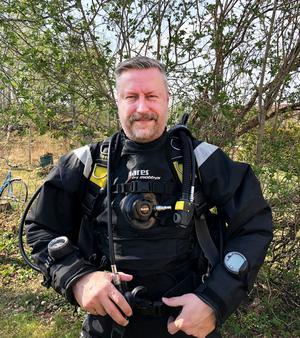 Lennart Berg, ordförande i Västerås Sportdykarklubb Mollusca, tipsar om var man kan dyka i Västmanland. Foto: Privat
