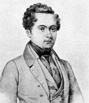 Richard Dybeck 1850. Porträtt av L.W. Herrlin.