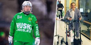På söndagen spelade Johanna Haräng bandy igen, efter fyra års frånvaro på grund av sjukdomen. Bild: Kenta Jönsson/Bildbyrån, Privat
