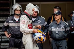 Marcus Ericsson efter loppet i Monaco.