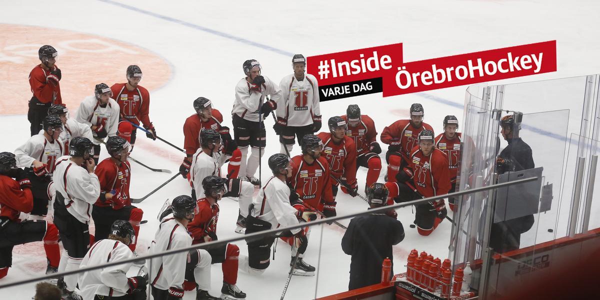 Örebro Hockey laddade om – centertanken tillbaka på is – så var träningen