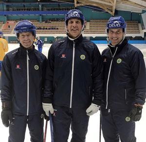 Joakim Forslund, Michael Carlsson och Mattias Rehnholm är tre av fyra nya förbundskaptener för Sveriges herrlandslag. Bild: Svenska Bandyförbundet