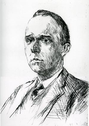 Werner Jaeger 1915. Litografi av Max Liebermann.
