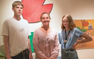 Lucas Erbe, Louise Borg och Saga Brodin.
