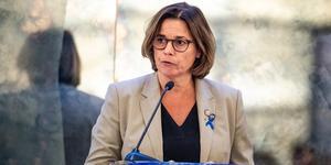 """""""Under klimattoppmötet Climate Summit i New York är det nämligen Sverige som är särskilt ombedda av FN:s generalsekreterare att visa världen att den gröna omställningen av är en positiv omställning, inte en börda"""" skriver bland andra MP:s klimat- och miljöminister samt vice statsminister,  Isabella LövinFoto: TT"""