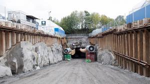 Tunnelbygget i Vinsta nära Vällingby är en del av Förbifart Stockholm.Foto: Fredrik Sandberg