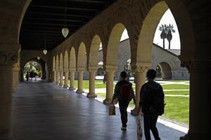 Från Stanfords campus.