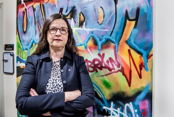 Anna Ekström (S), gymnasie- och kunskapslyftsminister är skakad efter att ha tagit del av elevuppropet om trakasserier. Foto: Lars Pehrson / SvD / TT
