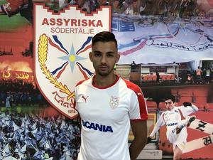 Mittbacken Anton Agrest är Assyriskas senaste nyförvärv. Bild: Assyriska FF.