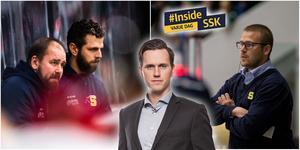 Ulf Lundberg får lämna SSK – de assisterande tränarna Nichlas Falk och Dennis Bozic tar nu över huvudansvaret. Foton från Bildbyrån. Montage: Mittmedia.