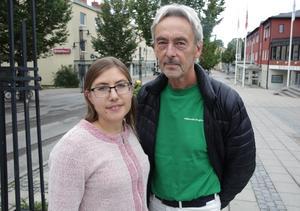 De båda partibasarna, Vanja Larsson (V) och Calle Morgården (MP), vill att sex timmars arbetsdag ska införas inom delar av den kommunala omsorgen.