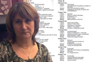 Lena Träskvik, chef för kostavdelningen, tycker inte att nyårsmiddagen ger en rättvis bild av maten på Blomstergården.