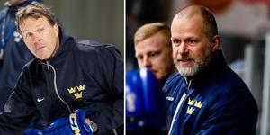 Johan Garpenlöv och Markus Åkerblom, som är två av tre som ska leda Tre Kronor. Bilder: Bildbyrån.