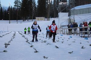 Startskottet för 50 meters loppet, till vänster Maja Lundberg i bild.