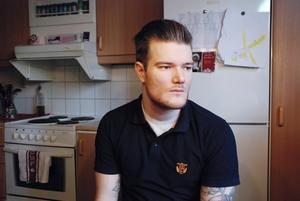 Robert Wikstrand från Bollnäs Flames beklagar att personer från supporterföreningen uttryckt sig olämpligt mot Karl-Erik Wångstedt. Bild: Kristian Westin