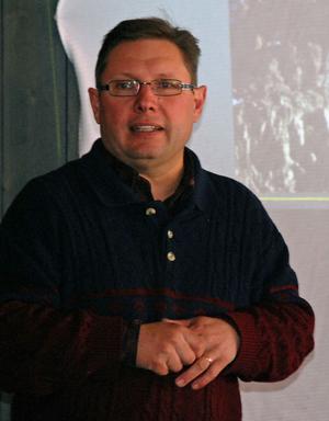 Projektledare Thomas Jacobs presenterade projektet Meteorum.