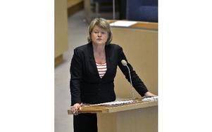 Vänsterpartiets ekonomiskpolitiska talesperson Ulla Andersson.   Foto: ANDERS WIKLUND / SCANPIX