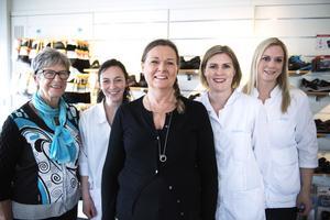 Marlene Wiberg, Sabina Hermansson, Lena Lundström Nordin, Sabina Sjöberg och Linda Sundberg.