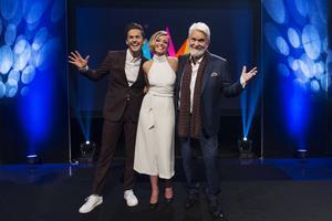 De som ska programleda Melodifestivalen 2017 är artisten David Lindgren, bloggaren Clara Henry och artisten Hasse Andersson.