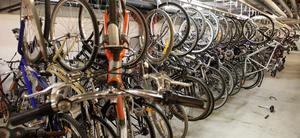 I polisens källare i Västerås trängs de upphittade cyklarna. Det gemensamma för de flesta är att de har stulits någonstans i Västerås.