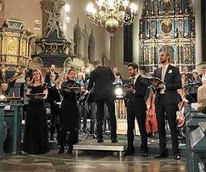 Tyvärr kom bara 260 personer till Falu Kristine kyrka för Mozarts c-mollmässa.