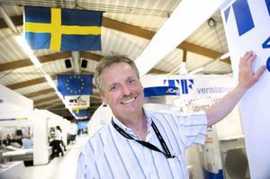 Mässgeneralen Mats Nordstrand kunde nöjt summera årets upplaga av Örnexpo. Till nästa år funderar han på att ordna något kul söndagsarrangemang för att locka lite mer folk även till sista mässdagen.