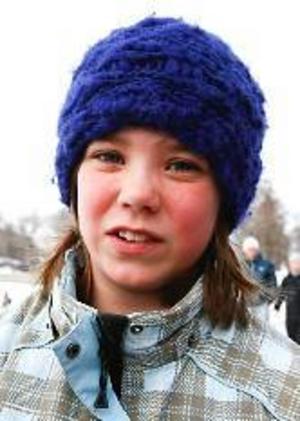 Lovisa Simonsson, 11 år, Östersund:–Ja, det tycker jag. Det är lite kul och så kan det vara gott.