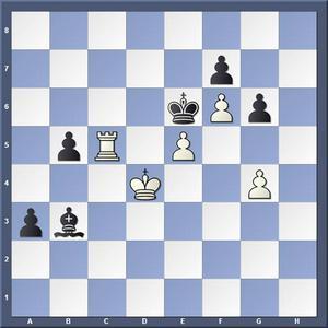 Vad spelade vit?   Lösning: 1.Tc7 a2 2.Te7 matt
