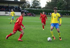 Lagkaptenen Pavle Vagic gjorde två mål mot Makedonien. Vagic tillhör Malmö FF och kan mycket väl vara en kommande stjärna.