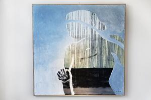 Camilla Pyk har inget namn på sina tavlor. För henne handlar det om att vara intensivt närvarande i nuet.