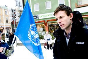 Alexander Bengtsson från Stiftelsen Expo var och talade på minneshögtiden och under Folkbildningsförbundets utbildningsdag.