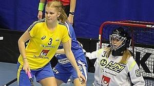 Sofia Olander under matchen mot Slovakien.