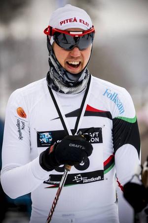 Förre landslagsmannen Jesper Modin, Piteå, gjorde sitt tredje tävlingslopp för säsongen.– Det är så otroligt kul att vara tillbaka, sa Jesper efter sin fjärdeplats.