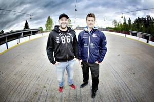 Björn Rosén och Christian Stark från Ockelbo Hockey club hoppas att kommunen säger ja till ett