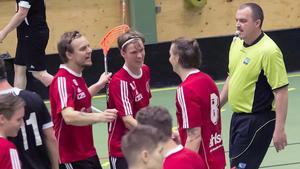 Jimmie Nilsson, Jonas Persson och Daniel Alexandersson efter ett av nio Knäppmoramål.
