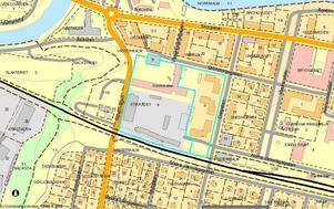 Bostäderna ska ligga inom det grå området på kartan.